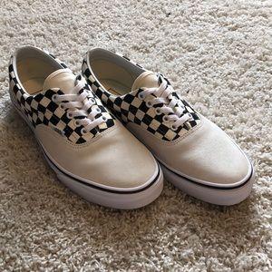 🏁Vans Era Checkerboard Marshmallow Suede/ Black🏁